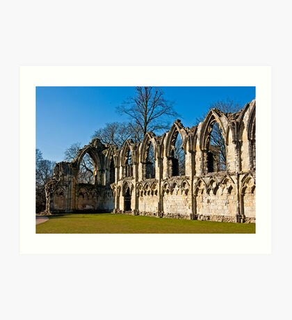 Ruins of St Mary's Abbey  -  York #4 Art Print