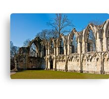 Ruins of St Mary's Abbey  -  York #4 Metal Print