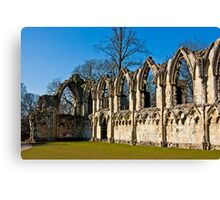 Ruins of St Mary's Abbey  -  York #4 Canvas Print