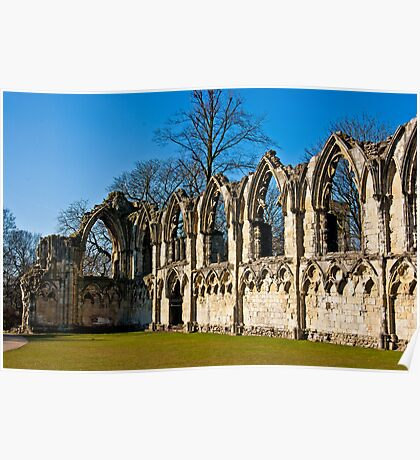 Ruins of St Mary's Abbey  -  York #4 Poster