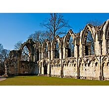 Ruins of St Mary's Abbey  -  York #4 Photographic Print