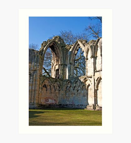 Ruins of St Mary's Abbey  -  York #5 Art Print