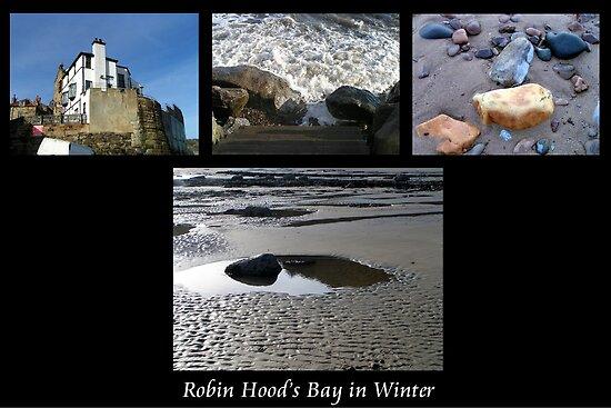 Robin Hood's Bay in Winter collage by patjila