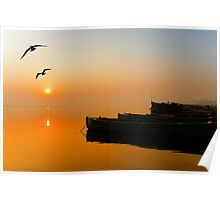 The Holy Ganga and the Sunrise Poster