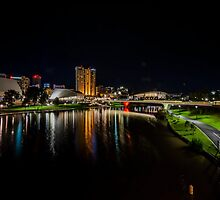 Adelaide Riverbank at Night V by Ray Warren