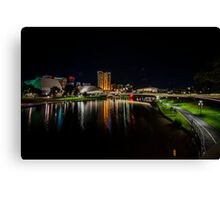 Adelaide Riverbank at Night V Canvas Print