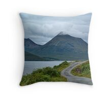 Mountains on Skye from Rassay coast Throw Pillow