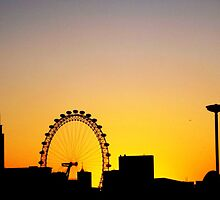 London Eye heavily silhouetted on New Year Day by danworth