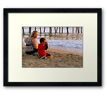 In A Setting Sun a New Photographer is Born Framed Print