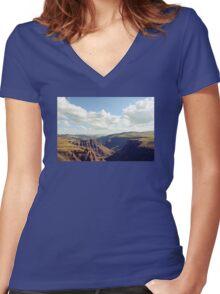 Maletsunyane River Women's Fitted V-Neck T-Shirt