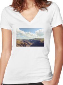 Maletsunyane River Women's Fitted V-Neck T-Shirt