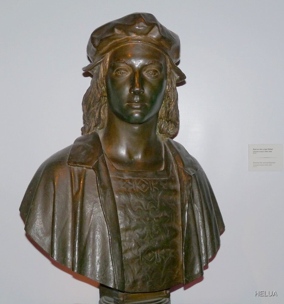 Sculpture of Raphael as a Young Man.  by HELUA