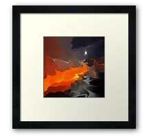 Magic mountain- Abstract Framed Print