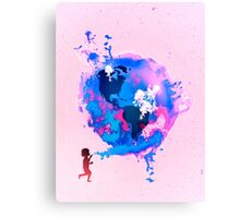Bubble Earth Canvas Print