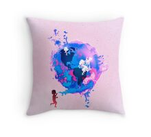 Bubble Earth Throw Pillow