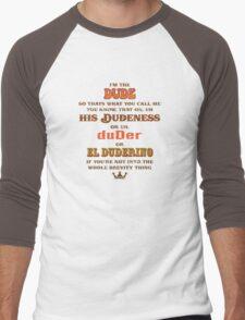 I'm the Dude Men's Baseball ¾ T-Shirt