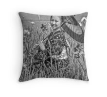 Parasol Princess Throw Pillow