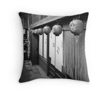 Back Alley Eatery Throw Pillow