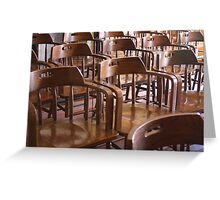 Museum Chairs Greeting Card