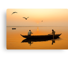 The Holy Ganga and the Morning Time. Canvas Print