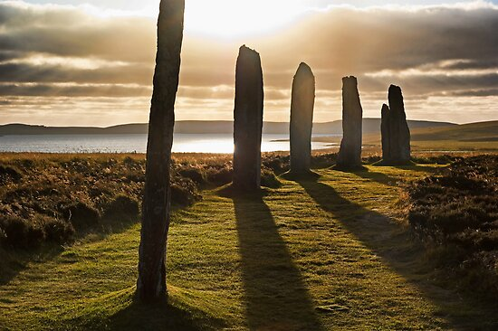 Shadows at Brodgar (Orkney Isles) by Panalot