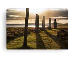 Shadows at Brodgar (Orkney Isles) Canvas Print