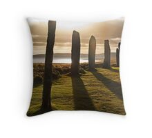 Shadows at Brodgar (Orkney Isles) Throw Pillow