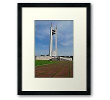 Quezon Memorial Circle monument 1 Framed Print