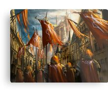 The Knight's Homecoming  Metal Print