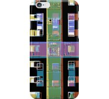 Abstract city apartments iPhone Case/Skin