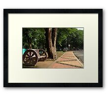 Quezon Memorial Circle bench 4 Framed Print
