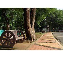 Quezon Memorial Circle bench 4 Photographic Print