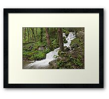 Wet Weather Cascades III Framed Print