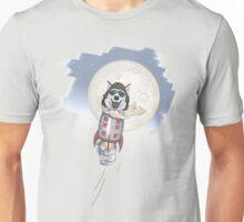 Funny husky pilot Unisex T-Shirt