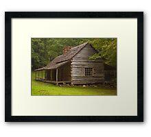 """Noah """"Bud"""" Ogle cabin Framed Print"""