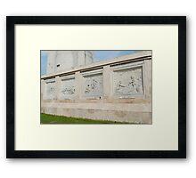 Quezon Memorial Circle carvings 7 Framed Print