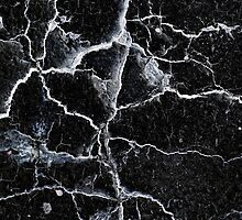 Cracked black wall background by steveball