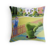 Neighbourly Gesture Throw Pillow