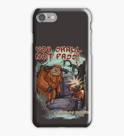 Without my permission! iPhone Case/Skin