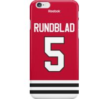 Chicago Blackhawks David Rundblad Jersey Back Phone Case iPhone Case/Skin