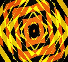 Orange and yellow striped shapes by steveball