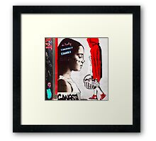 Little Red Ridinghood Spotted Latenite Tagging Framed Print