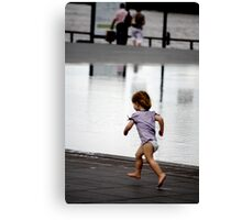 Child at Play in Bordeaux Canvas Print