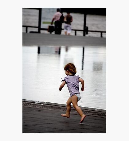 Child at Play in Bordeaux Photographic Print