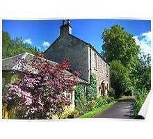Cottage at New Lanark Poster