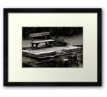 Empty bench at Silent Pool Framed Print