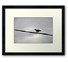 The Black Wire Framed Print