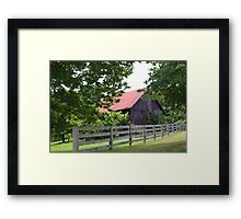 ANOTHER OLD INDIANA BARN Framed Print