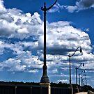 Lamppost Walkway by Edward Myers