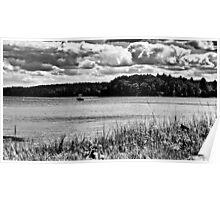 NH Landscape Seacoast B&W Poster